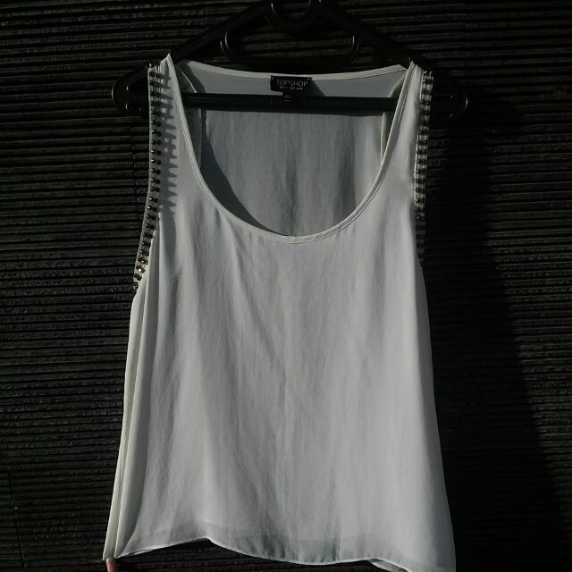 Topshop White Tops