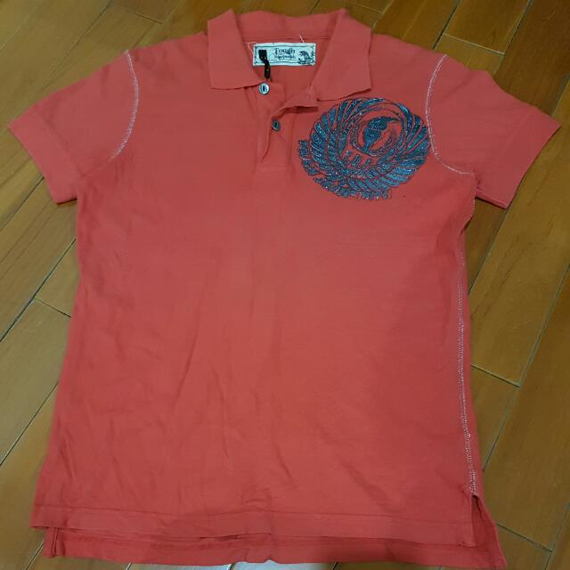 Tough  橘紅色Polo衫