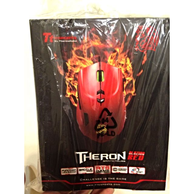 Tt eSPORTS THERON 閃獵 雷射引擎電競滑鼠 熾烈紅