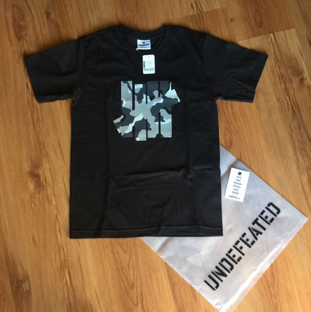 Undefeated Black Camo S/SL Tee T Shirt Japan Exclusive