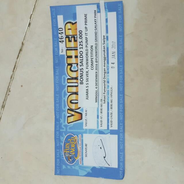 Voucher FUNWORLD 125K