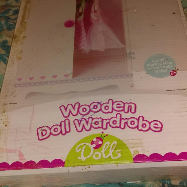 Wooden Dolls Cupboard
