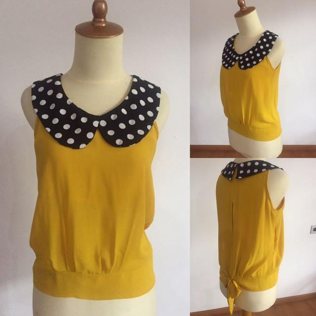 Yellow Polka Top