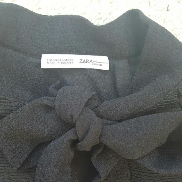 Zara bow neck crop