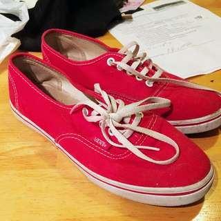 Red Vans Shoes Size 7