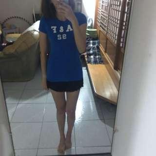 A&F寶藍 Xs短袖上衣