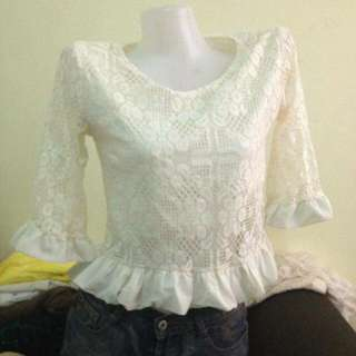 Lace 3/4 Top