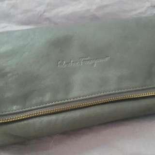 Real Leather Salvatore Ferragamo Clutch