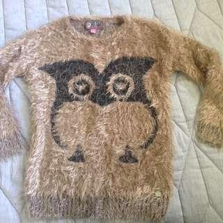 Lipsy London Fluffy Owl Jumper/Jersey Small