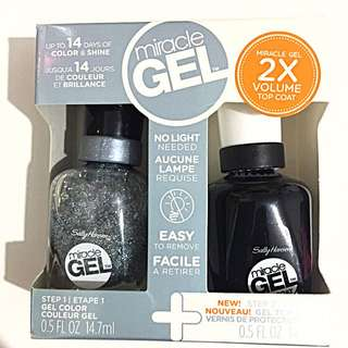 Sally Hansen Miracle Gel Starter Pack- 600 In A Flurry