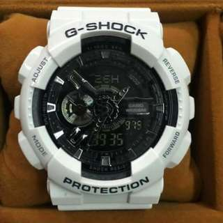 G Shock GA110 White With Black Accent (OEM)