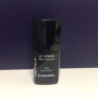 NEW Authentic Chanel 219 Black Satin Nail Polish - Full Size