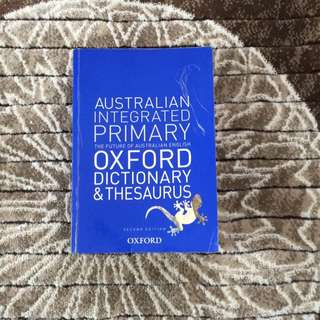 Australian Integrated Primary Oxford Dictionary & Thesaurus