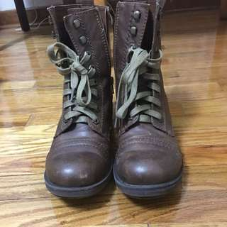 *PRICE REDUCED* Brown Ranger Cogna Cognac Combat Boots