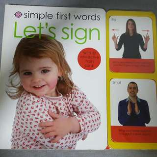 Baby Board Book With Flash Card