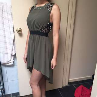 Khaki Maxim Dress