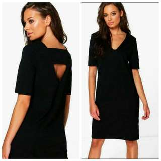 🆓 Shipping Black Shift Dress 14 L