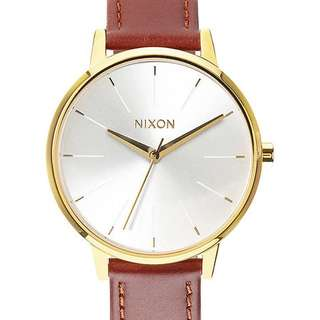 BRAND NEW NIXON GOLD LEATHER WATCH
