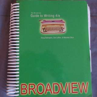 The Broadview Guide to Writing (4th edition)