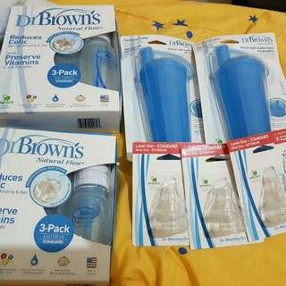 Dr. Brown's Feeding Bottles - 3-Pack 8oz/240mL