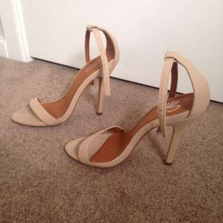Nude Strappy Spurr Heels