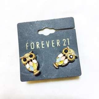 Forever 21 Owl Earrings