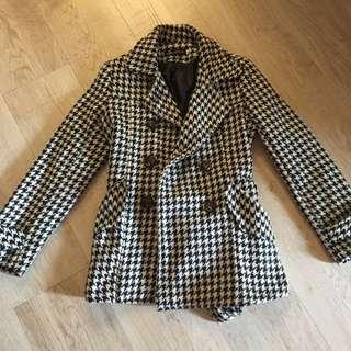 百貨專櫃購入千鳥紋毛料大衣