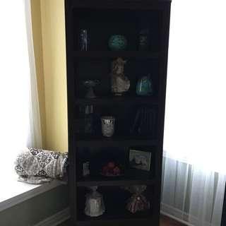 Dark Chocolate Brown Bookcase