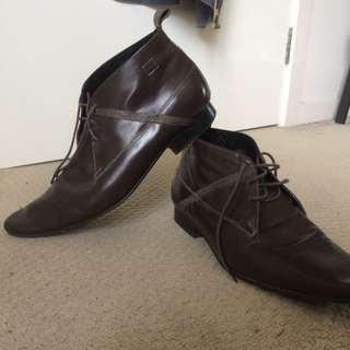 Genuine Brown Leather Shoes