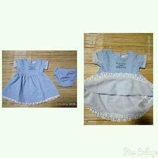 Fox Blue Dress Set