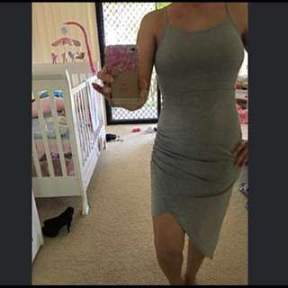 Grey Summer Dress By Angel Biba