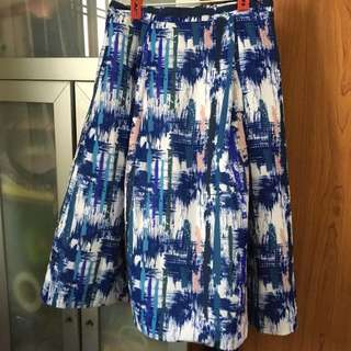 Love Bonito Splashed Design Midi Skirt