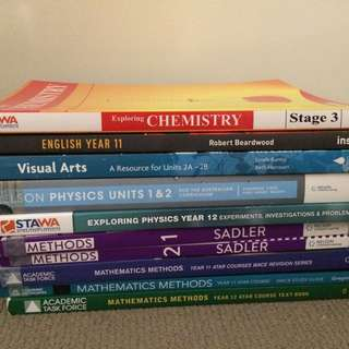 YEAR 11 & 12 ATAR BOOKS SALE! PHYSICS, ART, CHEMISTRY, ENGLISH, MATHS METHODS