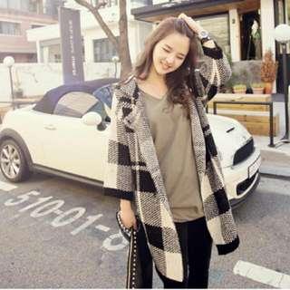 韓式長版外套