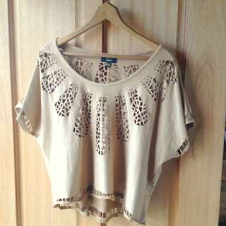 Ice Fashion Suede Top Size L