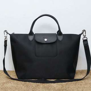 Original Longchamp Neo Short Handle Black