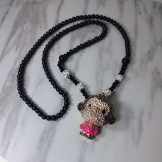 Cute monkey necklace