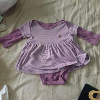 Purple Onesie Dress (3-6 mos)