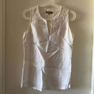 White Top With Embellishments