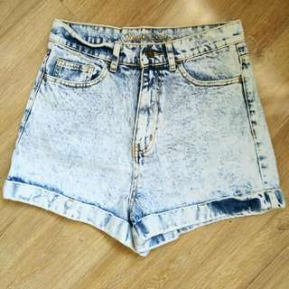 Size 10 High Waisted Bleached Shorts