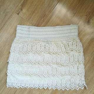 Size M Crochet Skirt