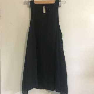 Black Chiffon Ladies Top Size 10