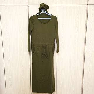 BN Hooded Long Sleeve Dress