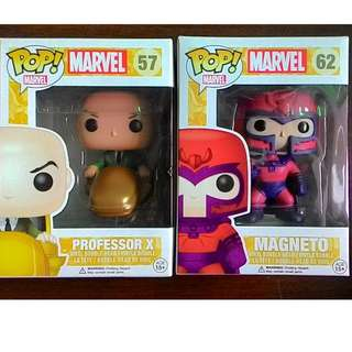 Funko Pop Marvel First Edition  Professor X and Magneto SET