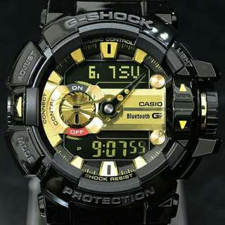 G-SHOCK GBA-400-1A9 黑金 音樂控制藍芽錶