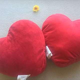 IKEA Heart Shape Cushions