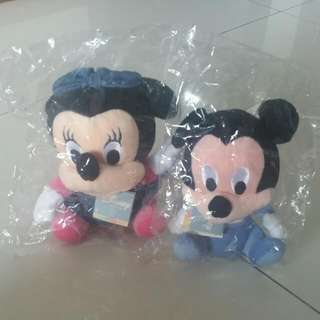 A Pair Of Baby Mickey and Minnie Soft Toys Rattle. Free Cinnamoroll