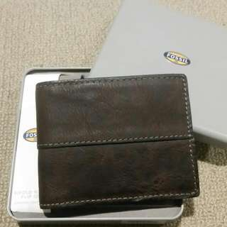Fossil Trifold Mens Wallet Brand New