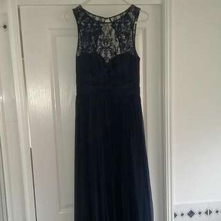 Forever New Navy Evening Dress Size 8