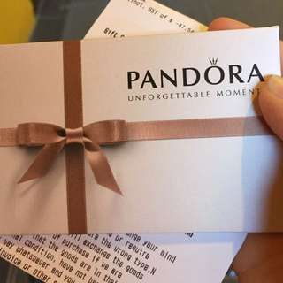 Pandora Gift Card Valued At 296$, expired date: 10/12/2017
